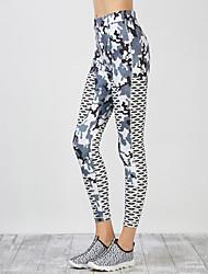 Women's Medium Print Legging,Striped