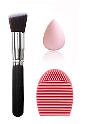 Esponja de Pó de Arroz/Esponja de Maquiagem Pincéis de Maquiagem Estojos & Limpadores Secos Cara Homens e Mulheres