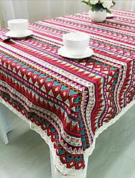 National Wind Retro Color Cotton And Linen Table Cloths 60*60cm