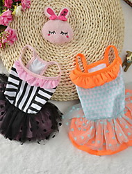 Chien Robe Vêtements pour Chien Soirée Anniversaire Décontracté / Quotidien Mariage Princesse Noir Orange