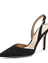 Women's Heels Formal Shoes Leatherette Summer Wedding Party & Evening Dress Formal Shoes Buckle Hollow-out Stiletto Heel Blue Black4in-4