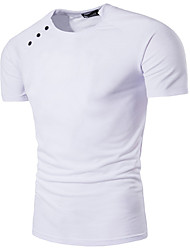 HOT! 7 Color S-3XL Plus Size Men's Going out Casual/Daily Simple Spring Summer T-shirtSolid Round Neck Short Sleeve Cotton Thin