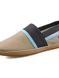 Da uomo Sneakers Comoda PU (Poliuretano) Primavera Autunno Casual Più materiali Piatto Blu scuro Grigio scuro Rosso Blu Marrone scuro