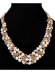 Femme Pendentif de collier Colliers chaînes Colliers/Sautoir Perle imitée Strass Imitation de perle Strass AlliageOriginal Pendant Stras