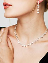 Mujer Juego de Joyas Pendientes colgantes Collar / pendientes Moda Elegant Nupcial Diamante Sintético Joyas Collares Pendientes ParaBoda