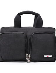 Unisex Carry-on Bag Nylon All Seasons Casual Outdoor Weekend Bag Zipper Black