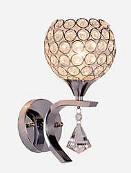 Max 60W E26/E27 Crystal Modern/Contemporary Electroplated Feature for Crystal Ambient Light Wall Sconces Wall Light