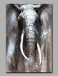 Hand-Painted Elephant Animal  Oil Painting On Canvas Modern Wall Art Picture For Home Decoration