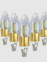 5W Luci LED a candela C35 40 SMD 2835 550-600 lm Bianco caldo Bianco V 1 pezzo