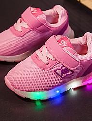 Mädchen Sneaker Leuchtende LED-Schuhe Netz Tüll Sommer Herbst Normal Leuchtende LED-Schuhe LED Niedriger Absatz Schwarz Grau Blau Rosa