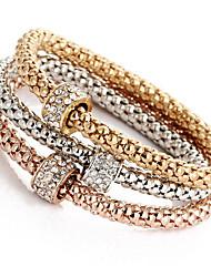 Mulheres Para Meninas Pulseiras em Correntes e Ligações Bracelete Enrole Pulseiras Imitação de Diamante Natureza Amizade Ligas de Ferro