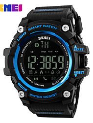 SKMEI Муж. Спортивные часы электронные часы Цифровой PU Группа Черный Красный