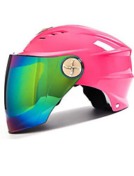 AD Motorcycle Male Electric Motor Semi-Covered Anti-UV Shade Helmet Colorful Color Film