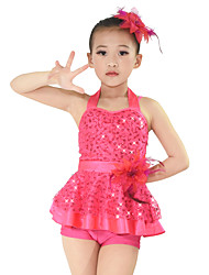 MiDee Jazz Dresses Women's / Children's Performance Spandex / Sequined / Tulle / Flower(s) / Sash/Ribbon / Sequins