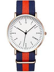 Couple's Fashion Watch Quartz Plastic Band Multi-Colored
