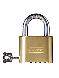 MASTER LOCK 175D Password Padlock Brass 4 Digit Password Lock Home Warehouse Door Adjustable Password Padlock Dail Lock Password Lock
