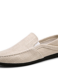 Men's Fashion Loafers & Slip-Ons Casual Shoes Breathable Linen Shoes