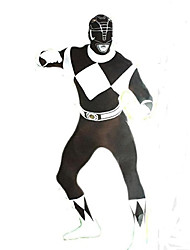 Zentai Suits Power Rangers Black Cosplay Costumes Check Leotard/Onesie Zentai Spandex Lycra Unisex Halloween Christmas Carnival