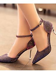 Women's Heels Basic Pump Leatherette Spring Casual Basic Pump Green Brown Black 1in-1 3/4in
