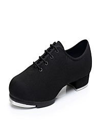 "Men's Tap Oxford Heels Sneakers Practice Low Heel Black 1"" - 1 3/4"""