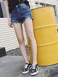 Women's Low Waist strenchy Shorts Pants,Simple Straight Solid