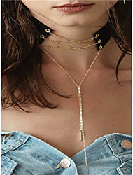 Women's Pendant Necklaces Lariat Y Necklaces Jewelry Line Copper Fabric Pendant Tassel Tassels Euramerican Fashion Personalized Jewelry