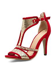 Women's Sandals Gladiator Novelty Glitter Customized Materials Summer Wedding Party & Evening Dress Gladiator Novelty Buckle Split Joint