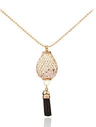 Women's Pendant Necklaces Rhinestone Circle MetallicUnique Design Pendant Tag Geometric Tassels Movie Jewelry Fashion Personalized