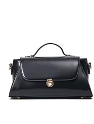 Women Shoulder Bag PU All Seasons Casual Office & Career Flap Clasp Lock Clover Red Black