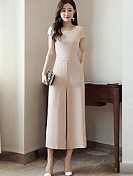 Для женщин Простой Офис На каждый день Комбинезоны Свободные Мода Лето