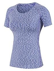 Femme Tee-shirt de Course Manches Courtes Fitness, course et yoga Vêtements de Compression/Sous maillot Hauts/Top pour Course Yoga