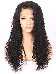 Peruca de onda profunda peruca de frente de renda brasileira com cabelo natural cor natural pre perdeu perucas de cabelo humano para