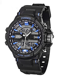 Men's Sport Watch Fashion Watch Quartz Silicone Band Black