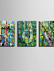E-HOME Stretched Canvas Art  Abstract Wine Glass Decoration Painting One Pcs