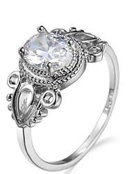 Ring Settings Ring  Luxury Elegant Noble Zircon Oval Wings Women's  Rhinestone Euramerican Fashion Birthday Wedding Movie Gift Jewelry