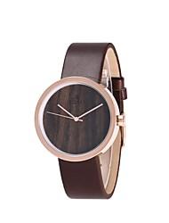 REDEAR®Women's Fashion Watch Wood Watch Japanese Quartz Wooden PU Band Charm Elegant Brown