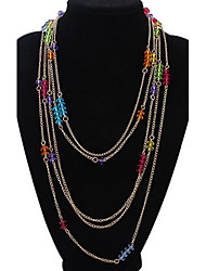 Layered Necklaces Women's  Multi-layered Colorful Vintage Rock Euramerican Multi Layer Pendant Layered Necklace Party Business Halloween Movie Jewelry