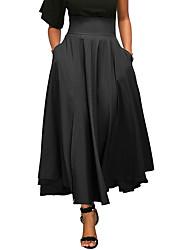 Для женщин Сексуальные платья просто Уличный стиль На выход На каждый день Праздник Midi Подол,Качеля Сексуальные платья Плиссировка Бант