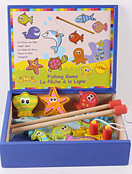 Fishing Toys For Gift  Building Blocks Square Wooden 3-6 years old Toys