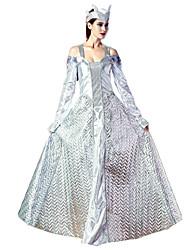 Uma-Peça/Vestidos Rainha Fantasias Festival/Celebração Trajes da Noite das Bruxas Vintage Anéis Tiaras Feminino Elastano Náilon Chinês