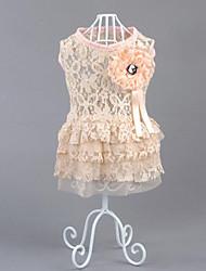 Chien Robe Vêtements pour Chien Décontracté / Quotidien Princesse Blanc Noir Rose