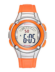 Kid's Sport Watch Digital Watch Digital Water Resistant / Water Proof Noctilucent Rubber Band Red Orange Green