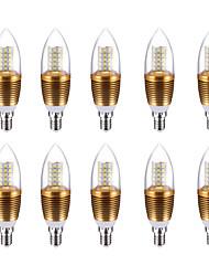 10W Luci LED a candela C35 60 SMD 2835 700 lm Luce fredda V 10 pezzi