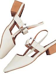 Women's Sandals Comfort PU Summer Casual Comfort Light Pink Almond 2in-2 3/4in