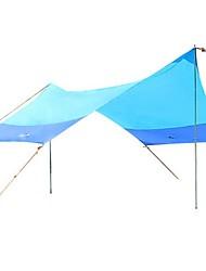 3-4 personnes Tente Unique Tente pliable Une pièce Tente de camping 2000-3000 mm Métallique Alliage de fer TérylèneEtanche Résistant à la