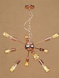 Подвесной светильник современный / современный глянцевая гальваническая функция для мини-стиля металлическая гостиная спальня столовая