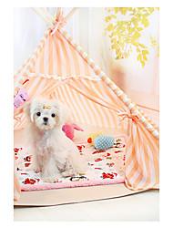 Dog Bed Pet Baskets Light Blue Orange