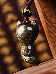 Diy pendentes automotivos pingente de carro de pedra obsidiana jinyao&Ornamentos de cristal de jade