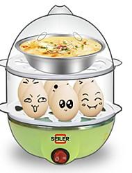 Eierkocher Doppel-Eierstöpsel Kreativ Licht und Bequem Ministil Leichtes Gewicht Abnehmbar 2 in 1 Multifunktion 220V