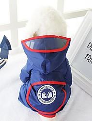 Собака Дождевик Одежда для собак На каждый день Геометрические линии Красный Синий